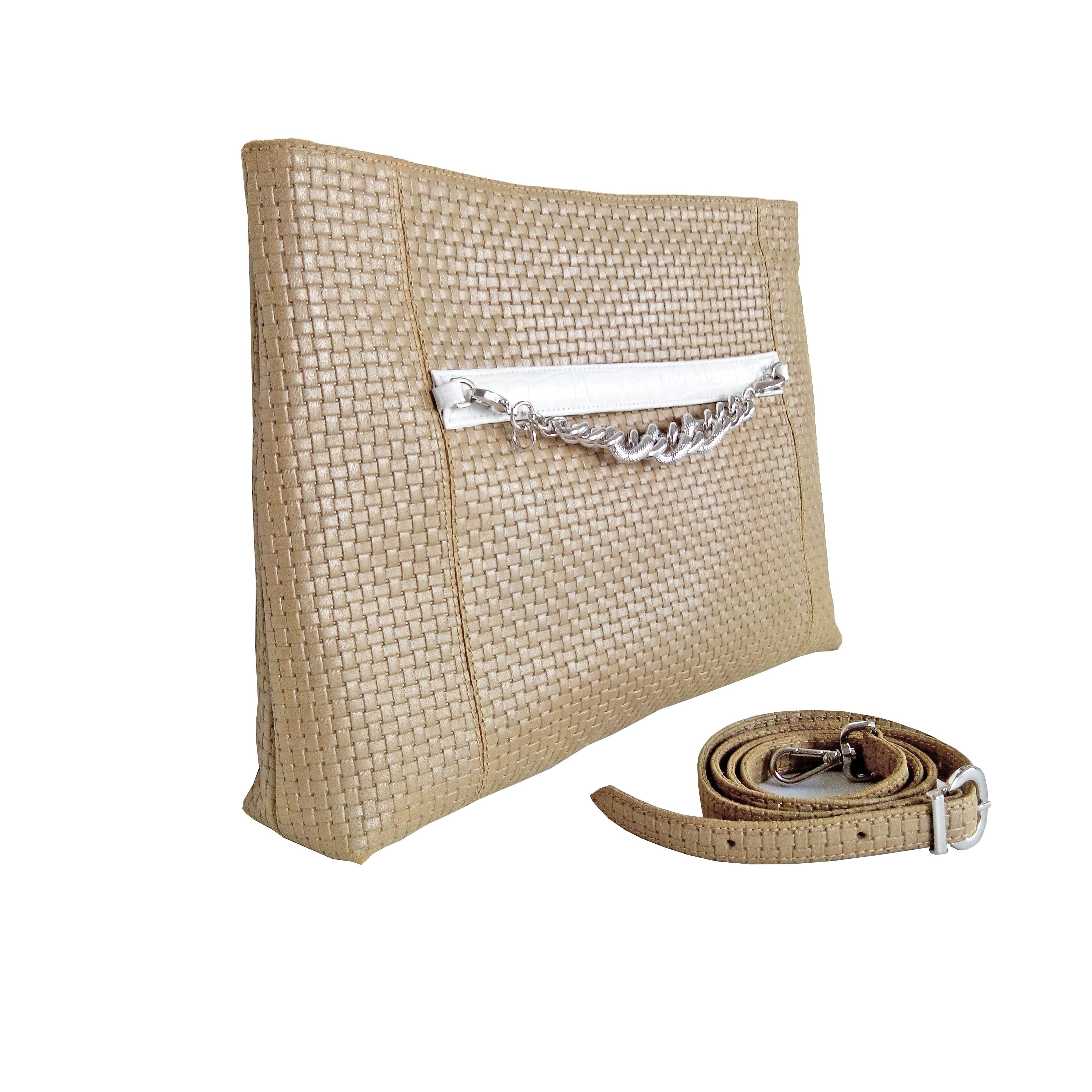 bolso brillos oro Vangatto para Atelier Alicante