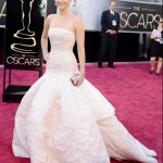 Jennifer Lawrence de Christian Dior Alta Costura