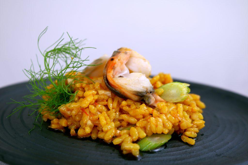 Arroz meloso con langosta e hinojos-Restaurante Monastrell