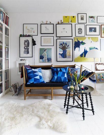 azul klein cojines de ikea