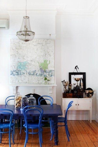 azul klein comedor