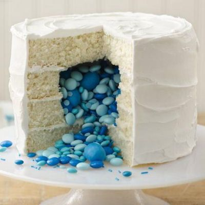 cake and blue
