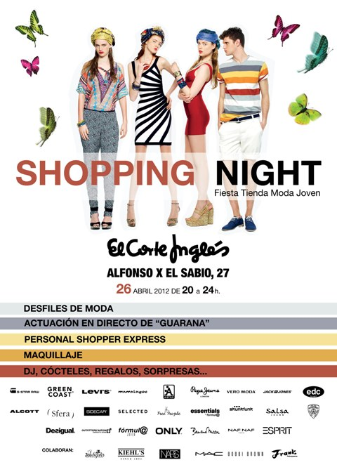 Cartel Shopping Night El Corte Inglés