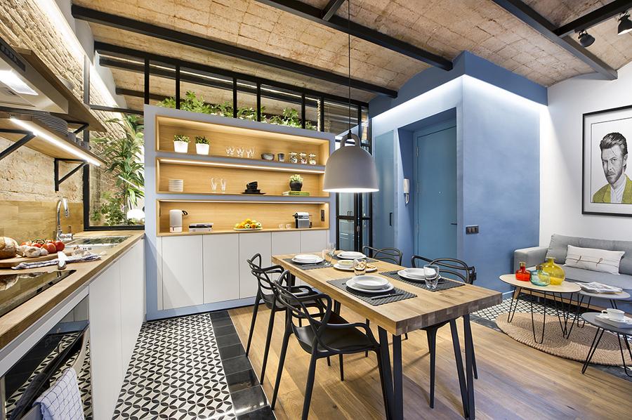 cocina-comedor-y-salon-de-estilo-mediterraneo-atelier-alicante
