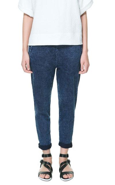 pantalon felpa 15,95 zara