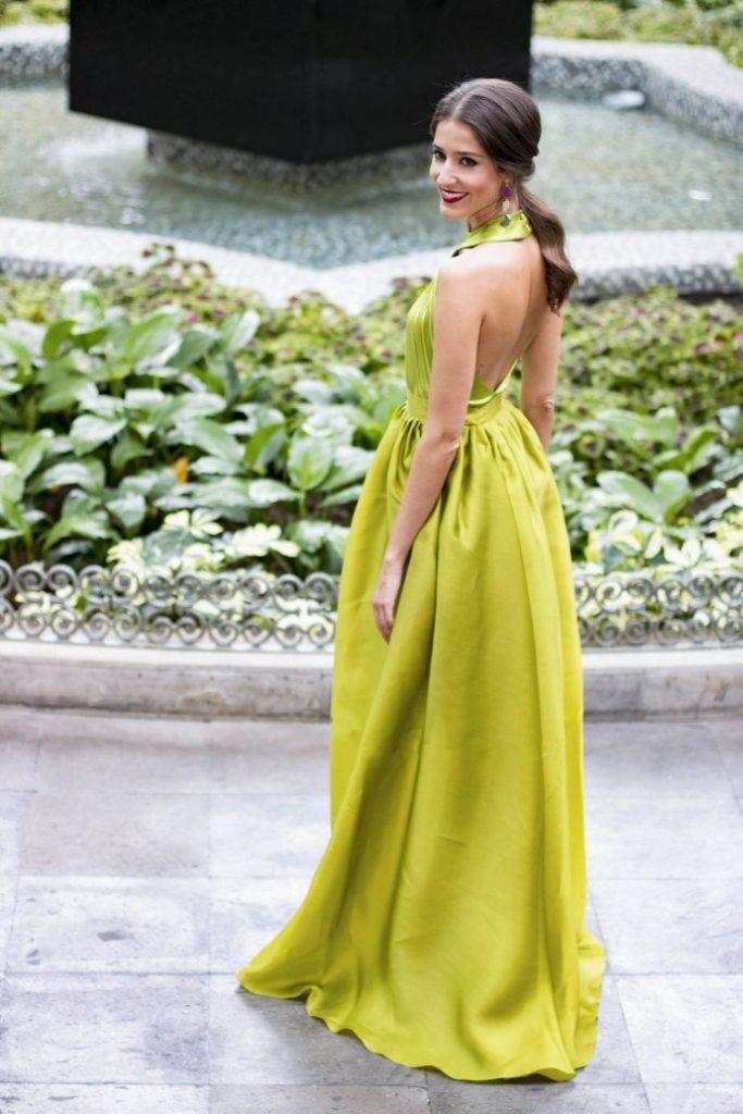 vestido greenery largo-atelier-alicante